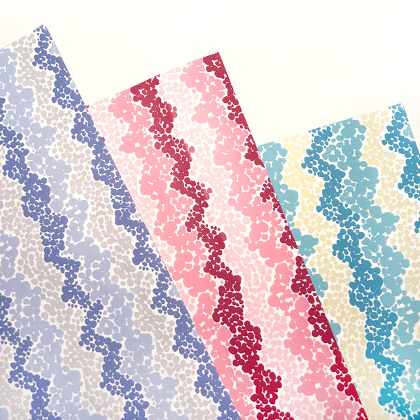 Bubbly Chevron Gift Wrap, Set of 6 sheets