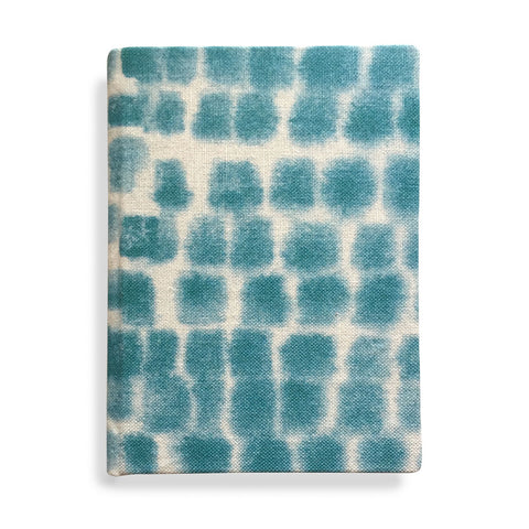 Spotted Grid Journal, small in Cerulean blue