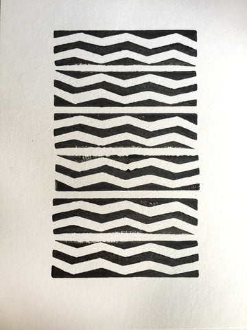 Double Chevron Solid Block Print