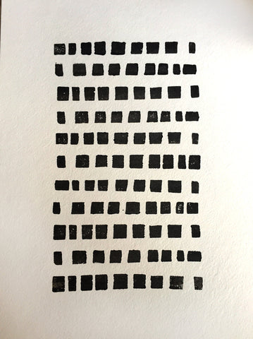 Spotted Grid Block Print, solid