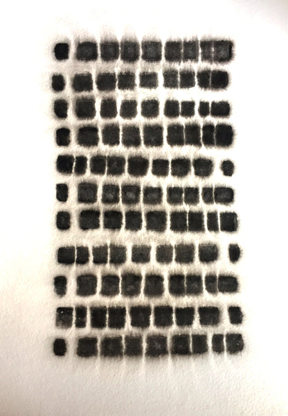 Spotted Grid Block Print, watery