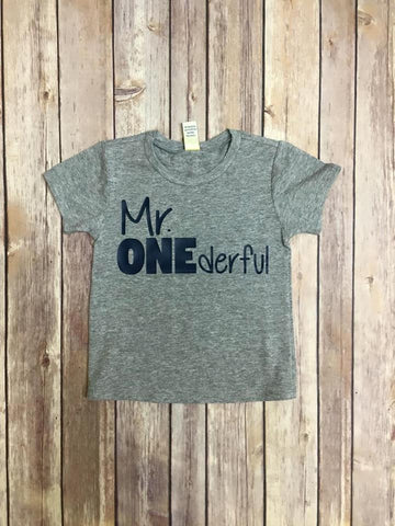 Mr Onederful Birthday Tee