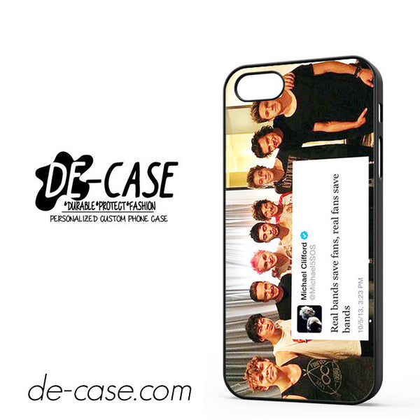 5sos And One Direction Fan Twit For Iphone 5 Iphone 5S Case Phone Case Gift Present