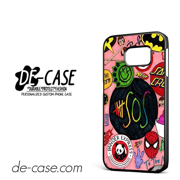 5SOS Pink Logo For Samsung Galaxy S6 Edge Case