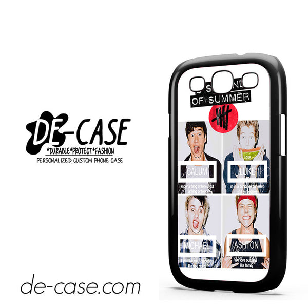 5 Seconds Of Summers 5 Sos Calum Ashton Luke Michele For Samsung Galaxy S3 Case Phone Case Gift Present