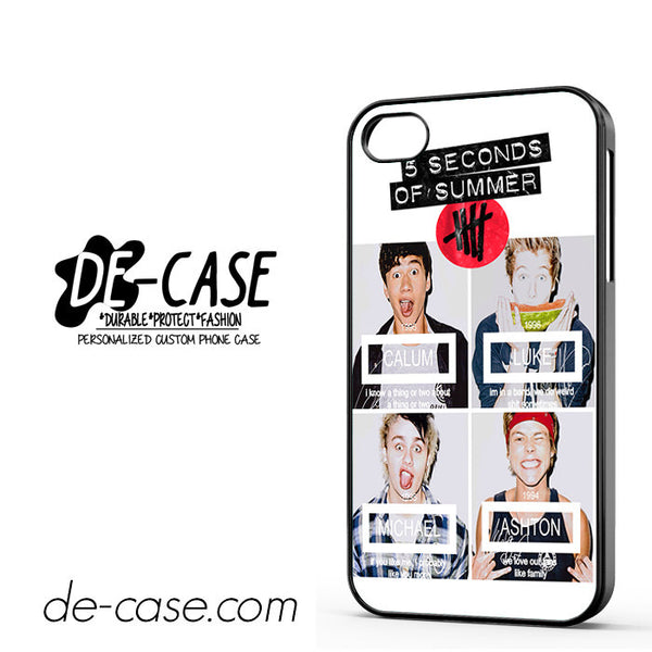 5 Seconds Of Summers 5 Sos Calum Ashton Luke Michele For Iphone 4 Iphone 4S Case Phone Case Gift Present