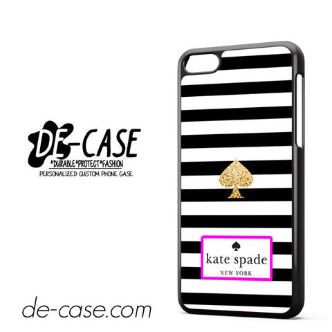 Kate Spade Black White Strip DEAL-6095 Apple Phonecase Cover For Iphone 5C