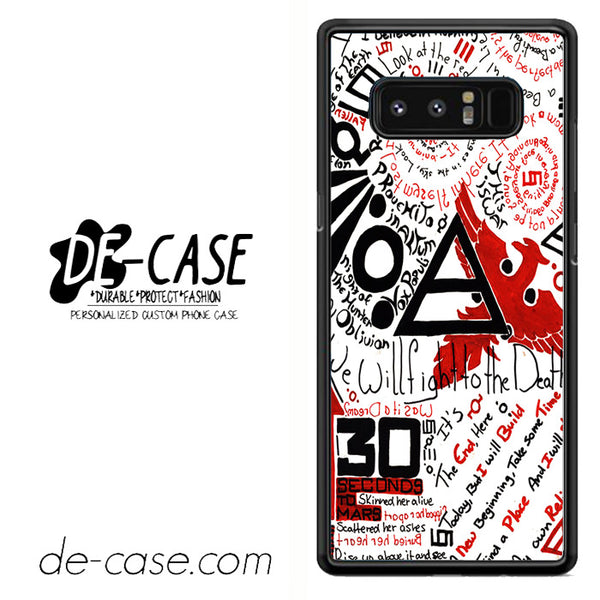 30 Seconds to Mars Fact DEAL-31 For Galaxy Note 8 Case
