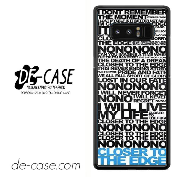 30 Seconds To Mars Lyric Love DEAL-41 For Galaxy Note 8 Case