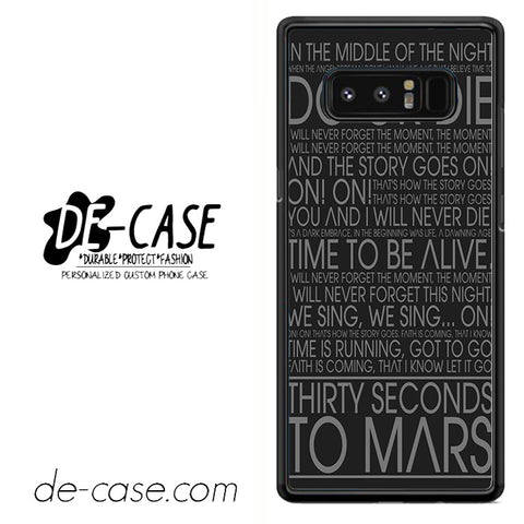 30 Seconds To Mars Song Lyrics DEAL-49 For Galaxy Note 8 Case