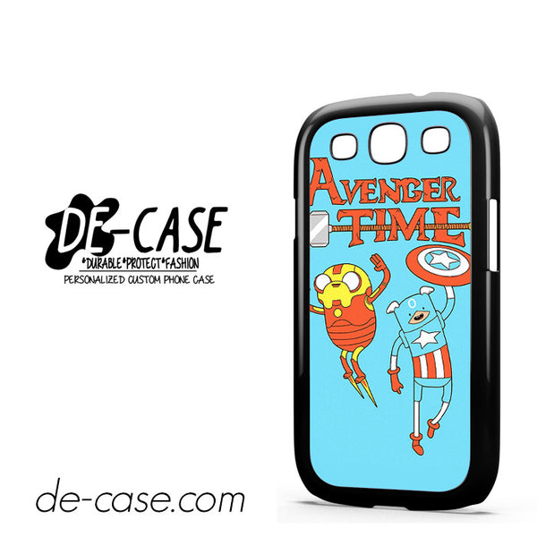 Adventure Time The Avenger Captain America And Ironman For Samsung Galaxy S3 Case Phone Case Gift Present