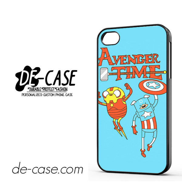 Adventure Time The Avenger Captain America And Ironman For Iphone 4 Iphone 4S Case Phone Case Gift Present