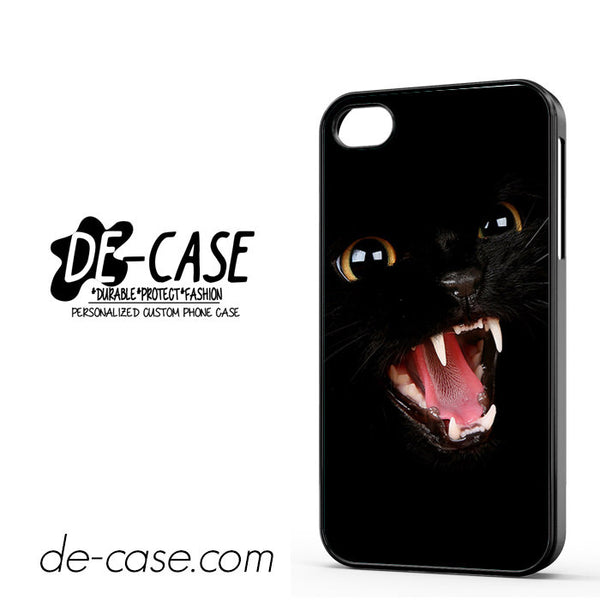 Angry Black Cat For Iphone 4 Iphone 4S Case Phone Case Gift Present
