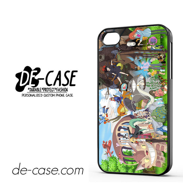 Anime Character Cartoon Totoro And Friend For Iphone 4 Iphone 4S Case Phone Case Gift Present