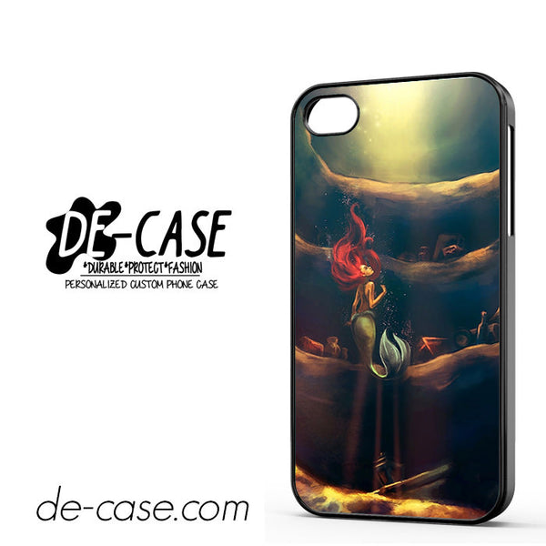 Art Little Mermaid Up Ocean For Iphone 4 Iphone 4S Case Phone Case Gift Present