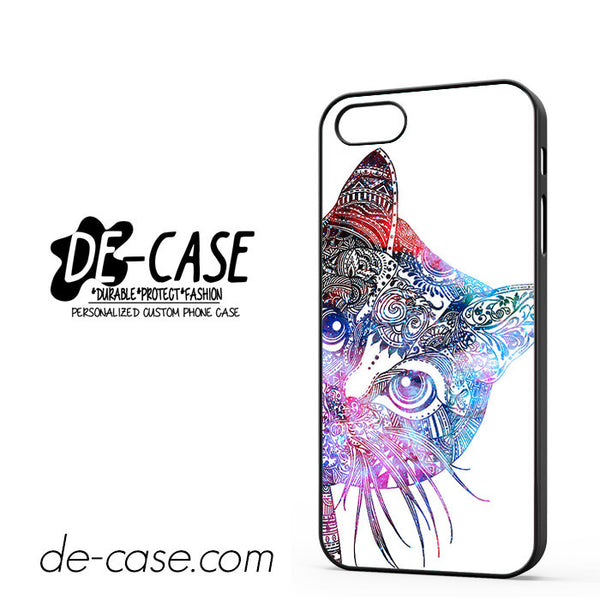 Aztec Cat In Rainbow Color For Iphone 5 Iphone 5S Case Phone Case Gift Present