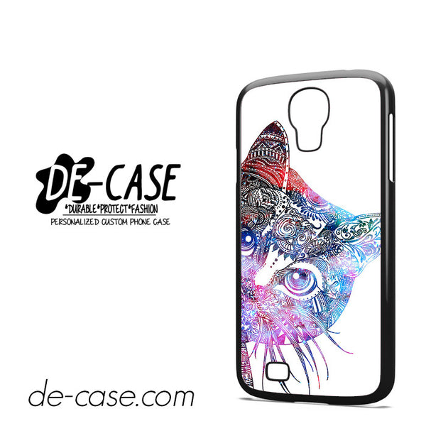 Aztec Cat In Rainbow Color For Samsung Galaxy S4 Case Phone Case Gift Present