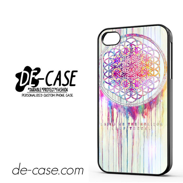 Bmth Sempiternal In Rainbow Watercolor Drop Bring Me The Horizon For Iphone 4 Iphone 4S Case Phone Case Gift Present