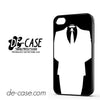 Black And White Anonymous Suit For Iphone 4 Iphone 4S Case Phone Case Gift Present