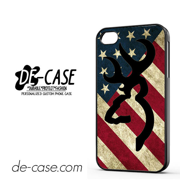 Browning Deer Camo America Flag For Iphone 4 Iphone 4S Case Phone Case Gift Present