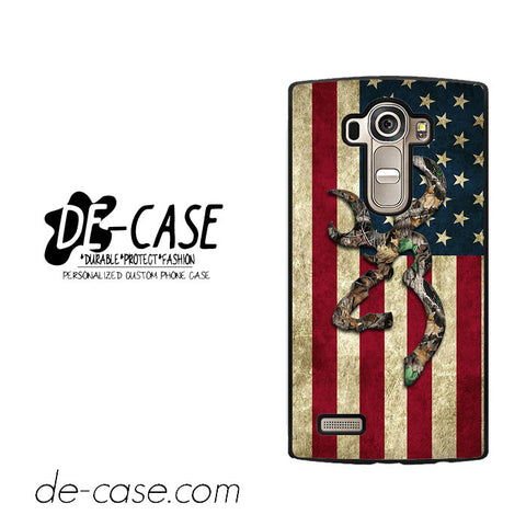 Browning Deer Camo American Flag Wood For LG G4 Case Phone Case Gift Present