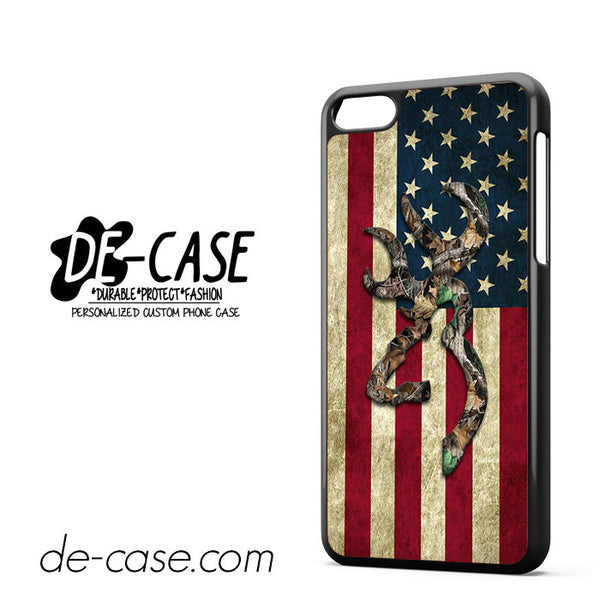 Browning Deer Camo American Flag Wood For Iphone 5C Case Phone Case Gift Present