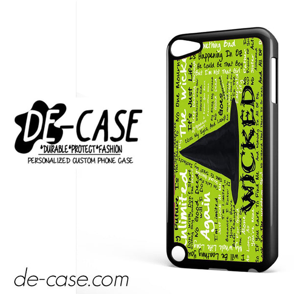 Wicked Lyrics DEAL-11926 Apple Phonecase Cover For Ipod Touch 5