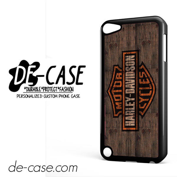 Harley Davidson On Wood For Ipod 5 Case Phone Case Gift Present