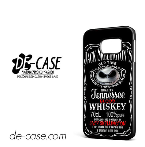 Jack Skellington Blood Whiskey For Samsung Galaxy S6 Edge Case