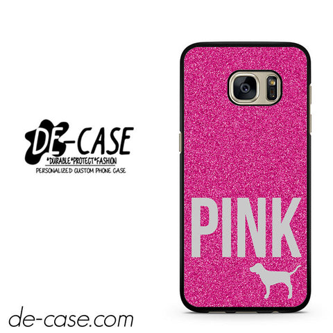 Pink Glitter Original Victoria's Secret DEAL-8683 Samsung Phonecase Cover For Samsung Galaxy S7 / S7 Edge