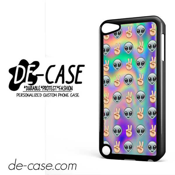 Psychedelic Alien Emoji Pattern For Ipod 5 Ipod Touch 5 Case Phone Case Gift Present YO