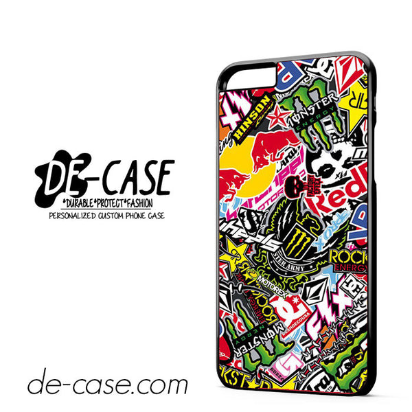 Sticker Bomb Redbull Monster Rock For Iphone 6 Plus Case