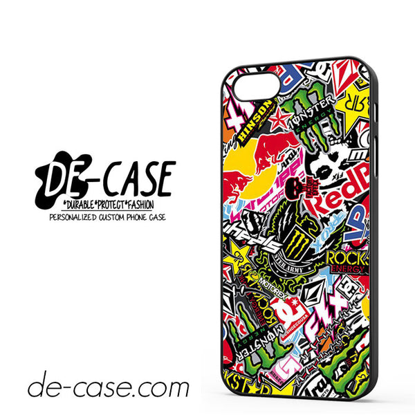 Sticker Bomb Redbull Monster Rock For Iphone 5/5S Case