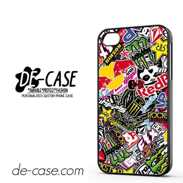 Sticker Bomb Redbull Monster Rock For Iphone 4/4S Case