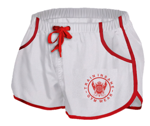 TI Aesthetic Gym/Swim Shorts White/Red