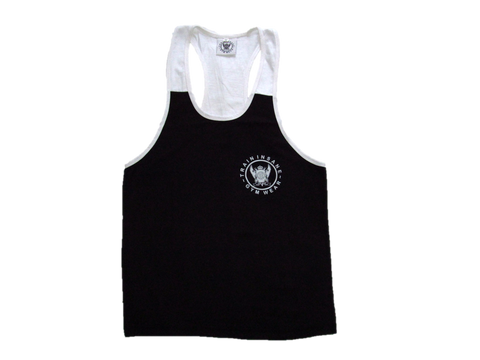 TI Fitness Stringer Vest Black & White Contrast