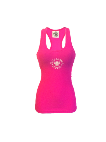 TI Fluorescent Fitted Pink Tank Top