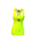 TI Fluorescent Fitted Yellow Tank Top