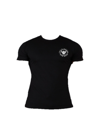 TI FlexFit Black T-Shirt (Small Logo)