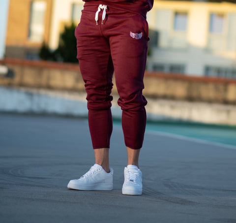 TI Iconic Maroon Bottoms