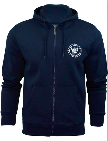 TI Brushed Full Zip Hoodie - Navy