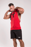 TI Muscle Fit Sleeveless Red Hoodie
