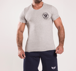 TI Signature Wide Neck T-Shirt - Grey Heather