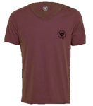 TI Signature Wide Neck T-Shirt - Maroon