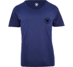 TI Signature Wide Neck T-Shirt - Navy