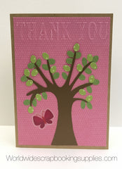 Embossed Thank You Card