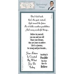 Sentimentally Yours - Clear Stamps - Motivational Verses