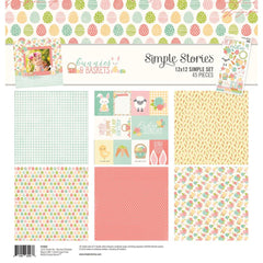 "Simple Stories Simple Sets Collection Kit- Bunnies and Baskets- 12""X12"""