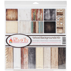 Ella & Viv: 12x12 Collection Pack - Wood Backgrounds