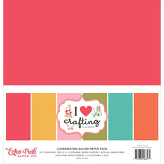 Echo Park - I Heart Crafting Collection -  12x12 Collection Pack- Solids